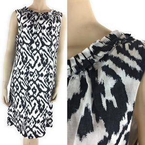 Ann Taylor Loft Womens Sheath Dress 10 Black White